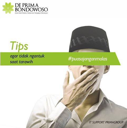 Tips agar tidak mengantuk saat tarawih