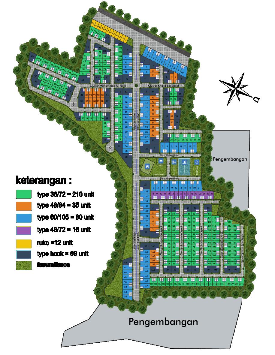 Siteplan - De Prima Bondowoso